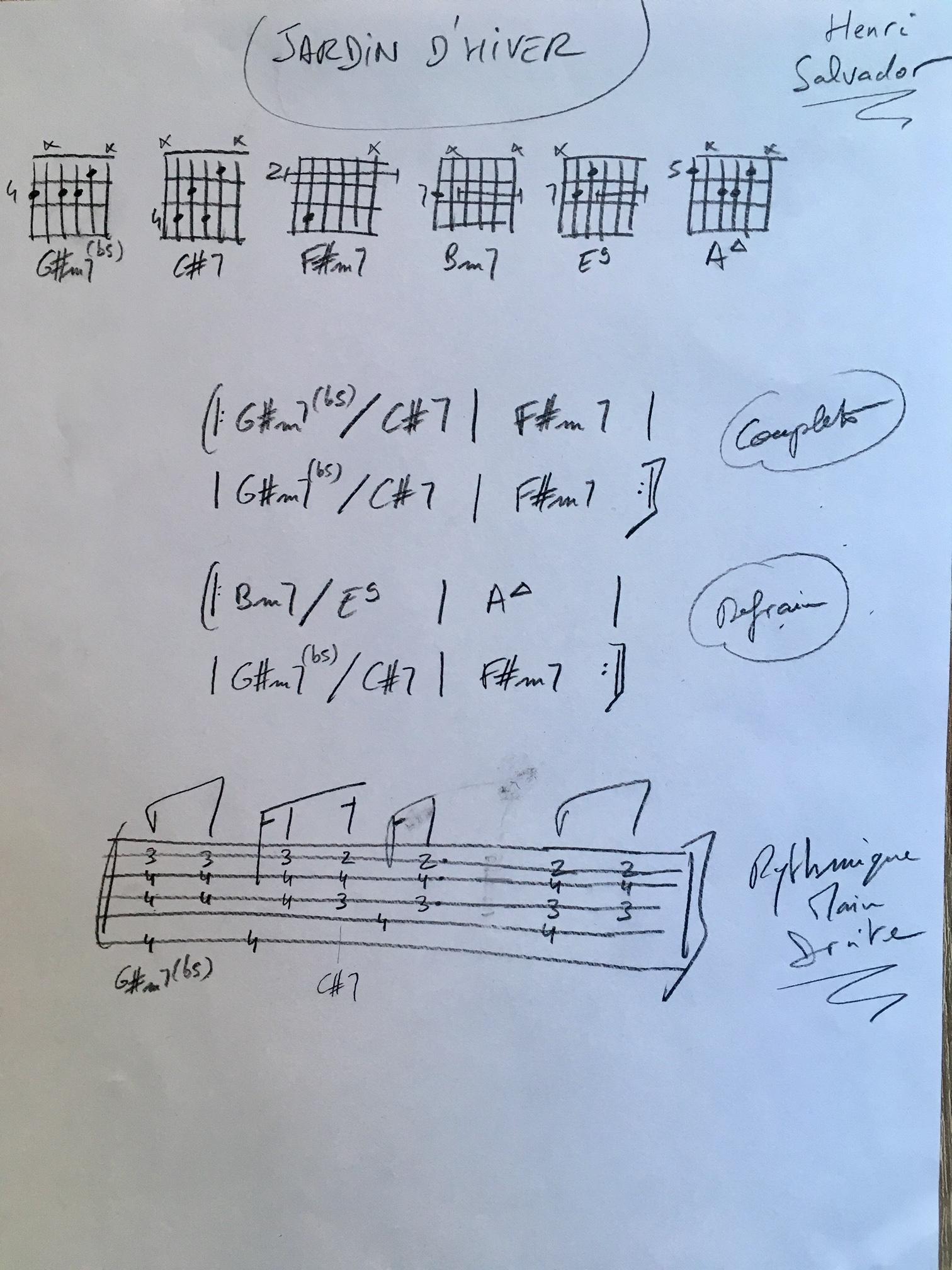 Jardin D Hiver Partoche Guitare Galago Music